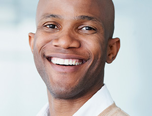 Young man with attractive smile